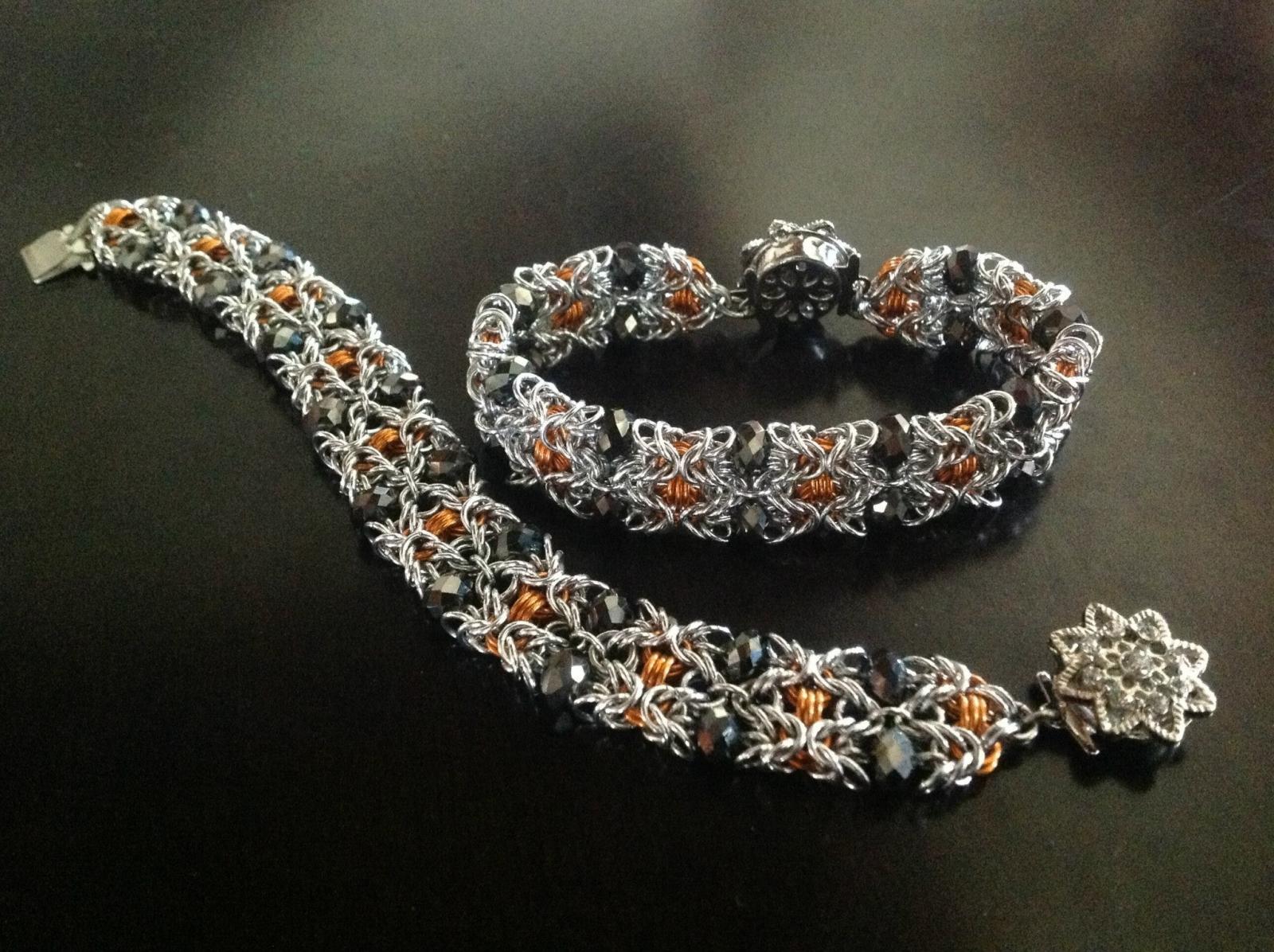 Beaded Byzantine Bracelet