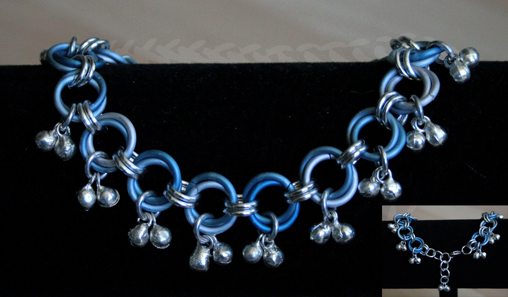 Blue Ice Dancers Bells - 'Slave' Anklet