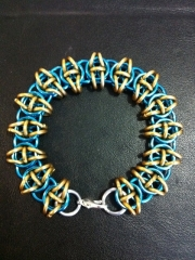 Blue and gold Celtic Vision bracelet