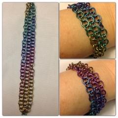 Rainbow niobium bracelet