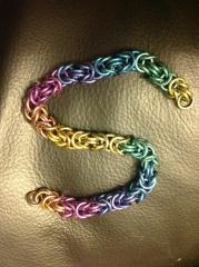 Rainbow niobium byzantine bracelet