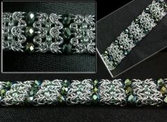 Beaded maille bracelet