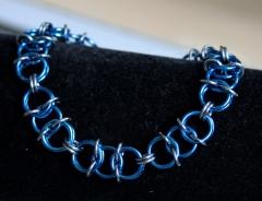 Royal Blue and Black Ice Aura 2 Bracelet