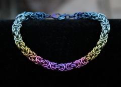 Hand Anodized Niobium Byzantine Bracelet