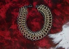 Hematite Golden Brass Chainmail Bracelet