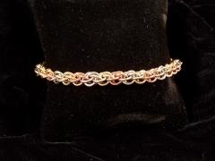 JPL-4 Tri-color Bracelet, in Stainless, Copper, & Nickle Silver