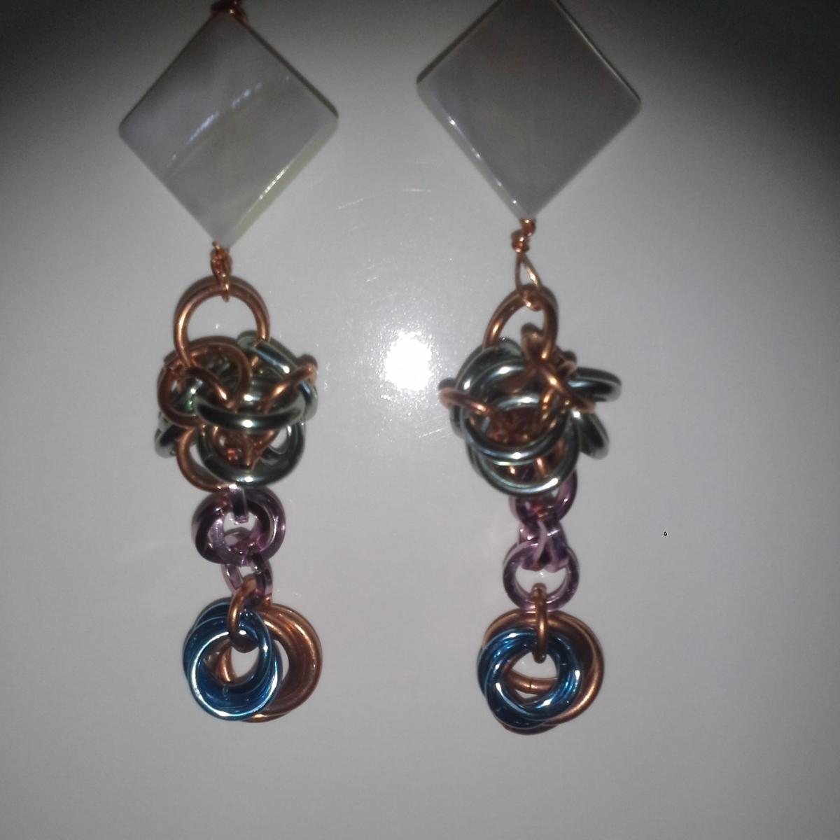MOP shell earrings