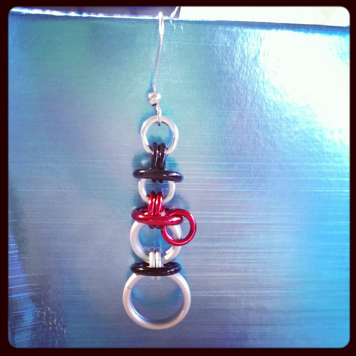 Chainmaille Snowman Earring