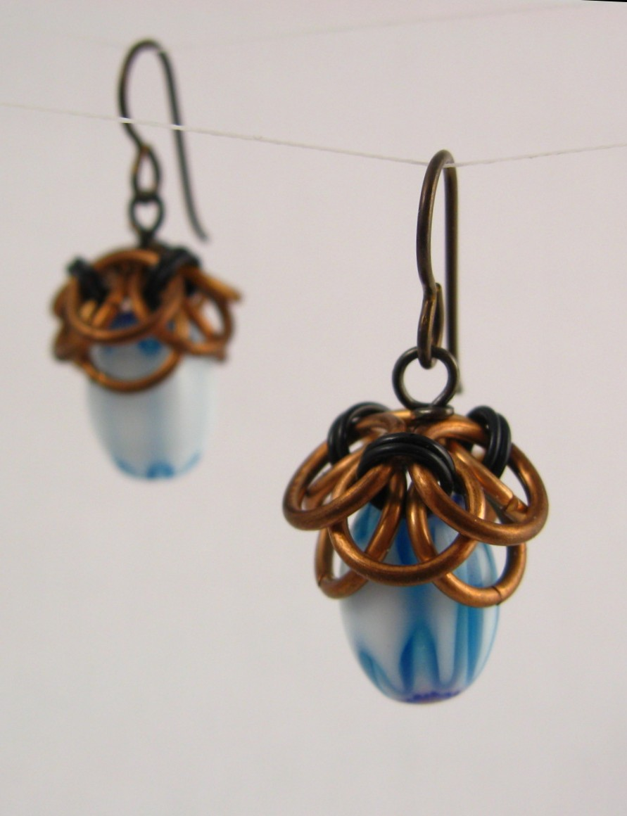 Helm's Chain acorn earrings
