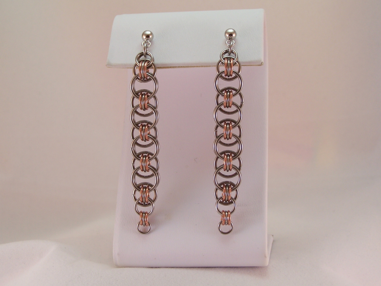 Helm Chain Danglers, in Copper & Stainless
