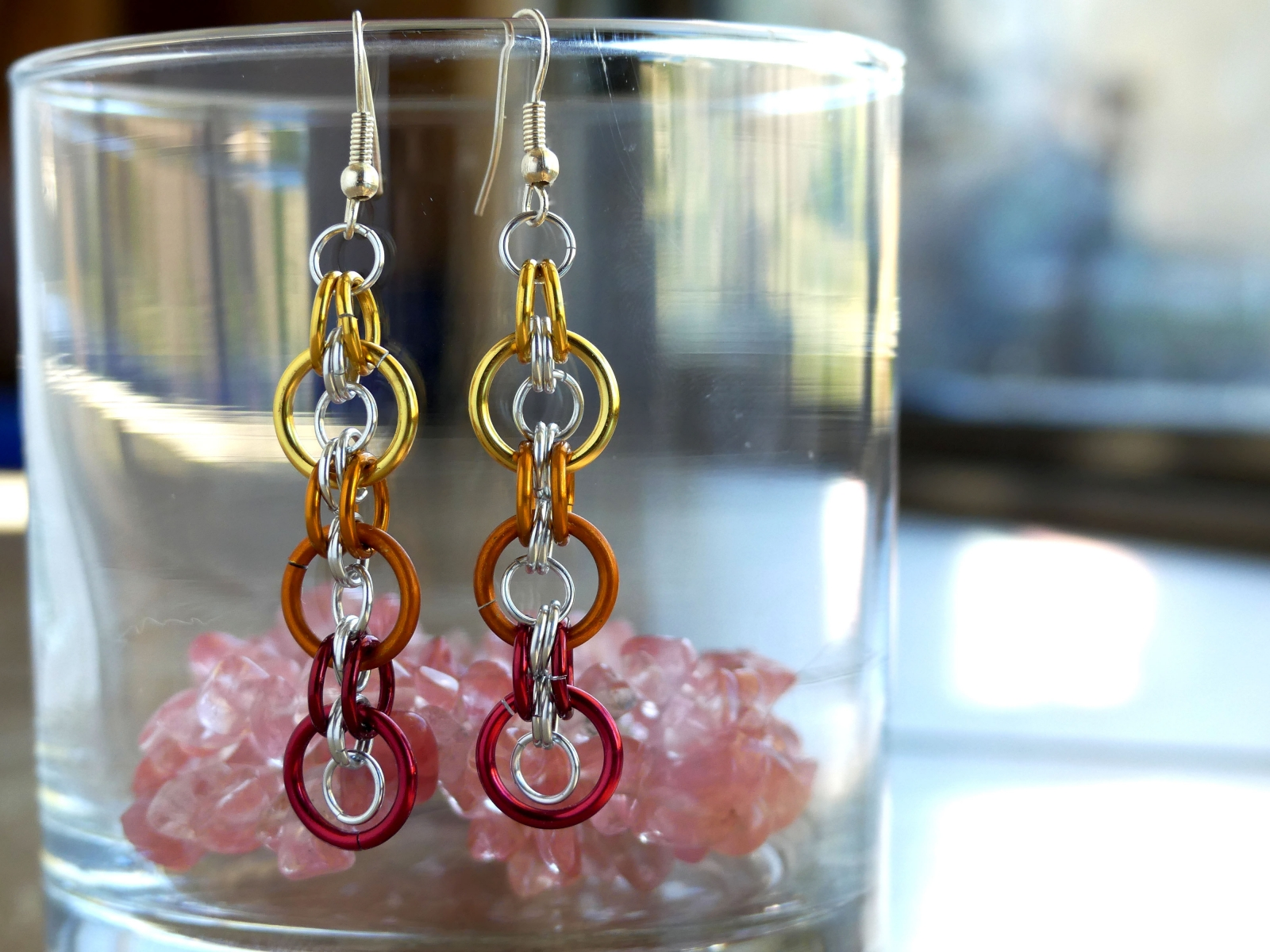 Bullseye Earrings - Fire