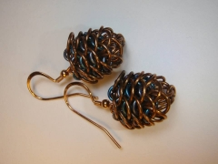 Dragonscale Pinecone Earrings