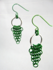 European 4 in 1 dangling dag earrings