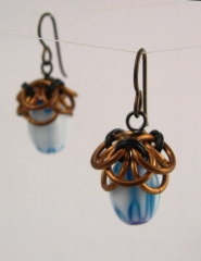 Helm's Chain acorn earrings