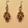 silver gold polyhedron earrings