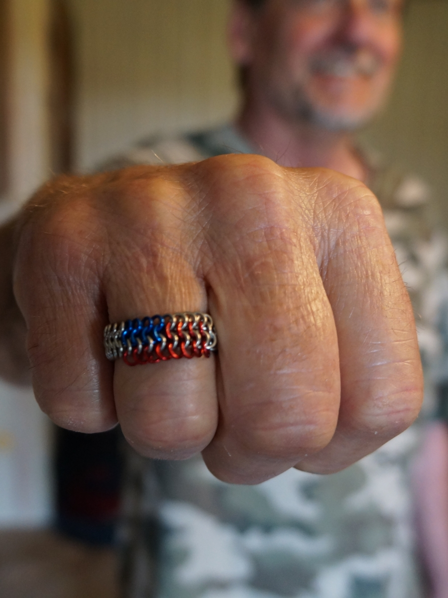 Dads flag ring
