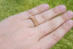 Brass finger ring.