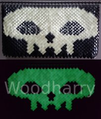 Glow in the Dark Scales Skull