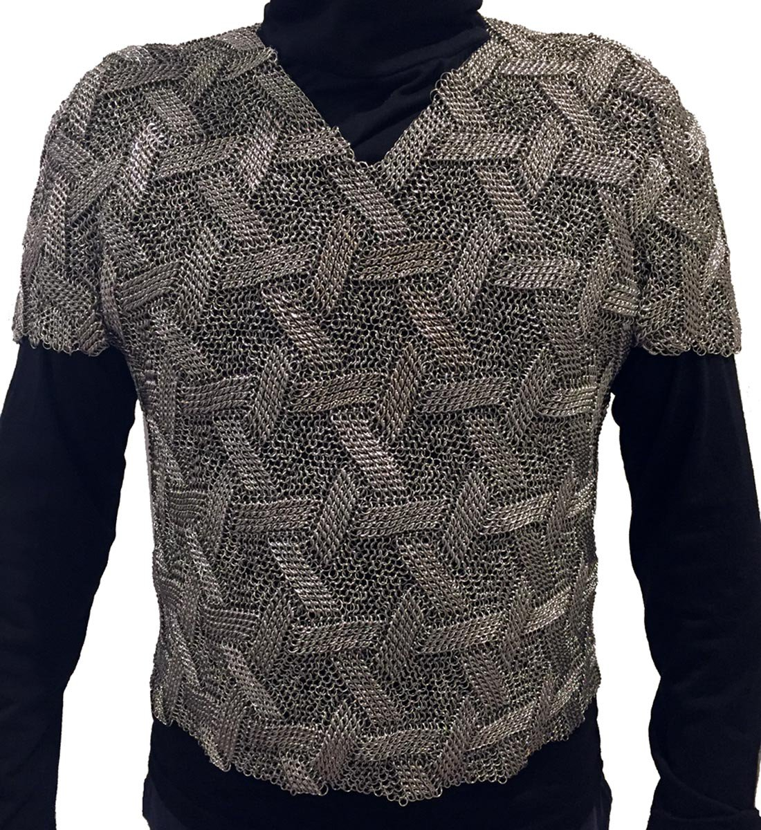Star of David patterned shirt