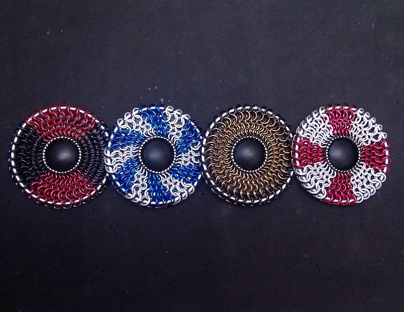 Chain Maille Round Shield Coasters