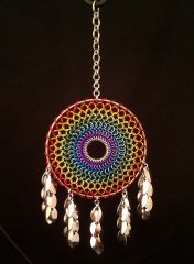 Chainmail Rainbow Dreamcatcher with Shaggy Scales.jpg