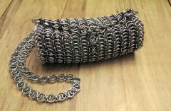 Barrel Style Chainmaille Purse