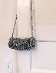Barrel Style Chainmaille Purse Hanging