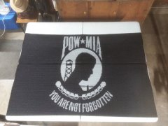 POW/MIA Flag inlay